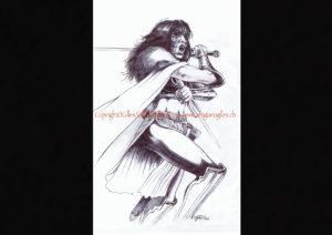 """©""""Sous Le Signe du ..."""" dessin extrait de l'ART BOOK ( roman illustré ) ©""""Origines"""" Tome I de ©Gilles,,"""