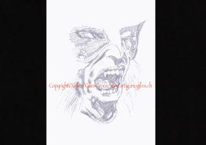 """©""""Sous Le Signe du ..."""" croquis au crayon extrait du projet ART BOOK ( roman illustré ) ©""""Origines"""" Tome I de ©Gilles,,"""