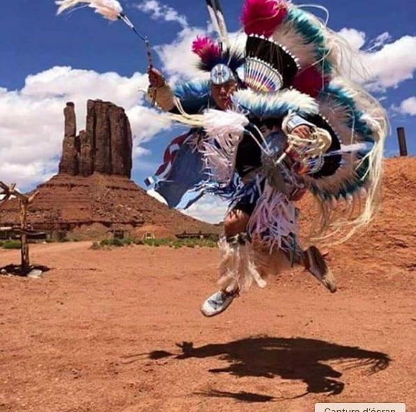 Danse d'un Indien cherokee